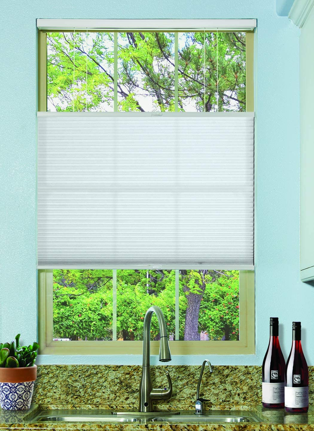 BlindsAvenue Cordless Top Down Bottom Up Cellular Honeycomb Shade