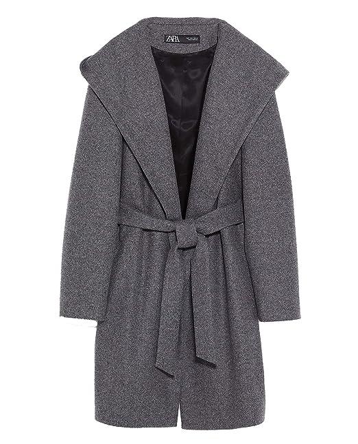 Zara Cappotto Donna Grigio S: Amazon.it: Abbigliamento