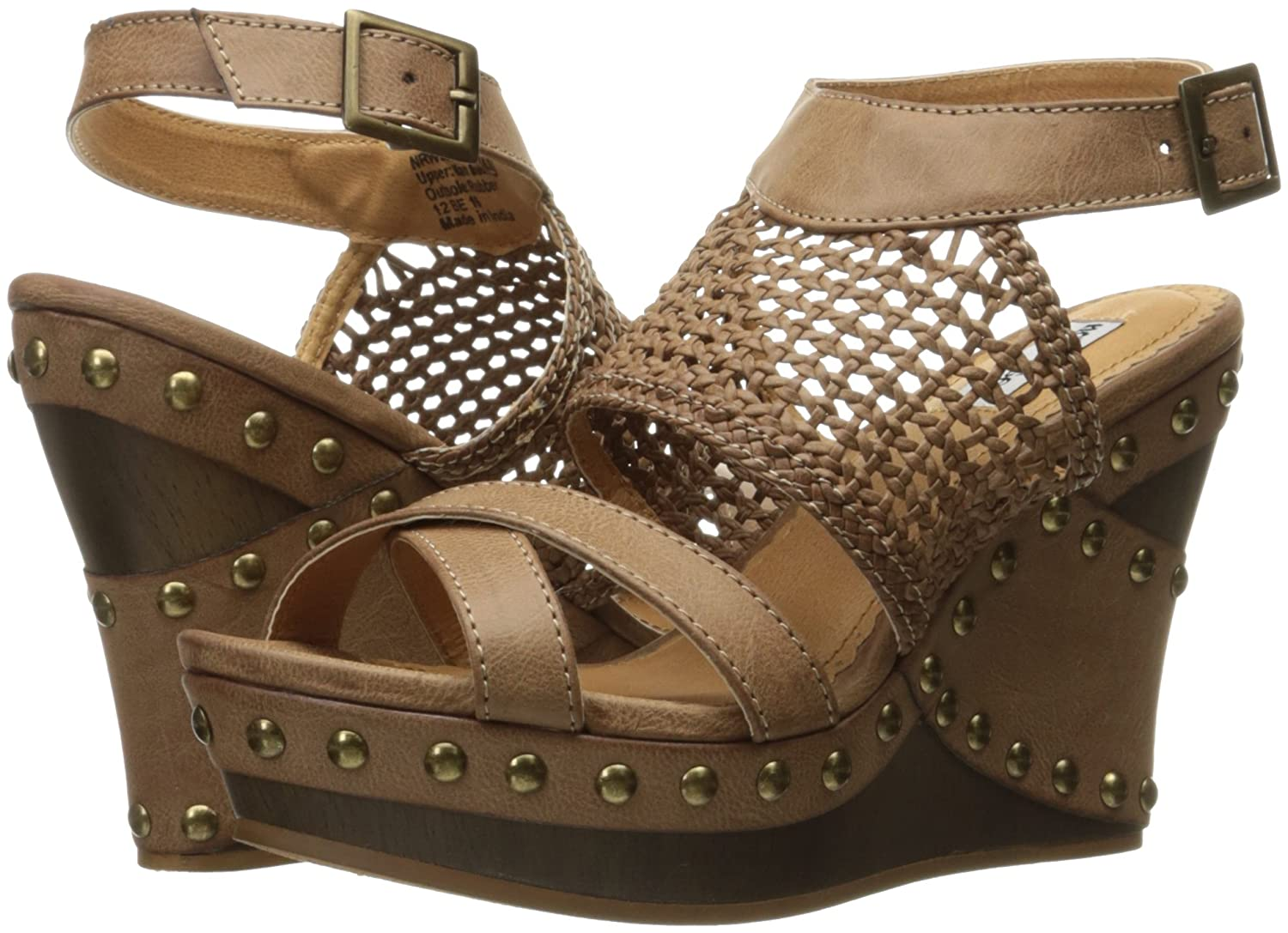 Not Rated Women's 8 Coralie Wedge Sandal B01M4O8Z2Y 8 Women's B(M) US|Tan 5fb0b3