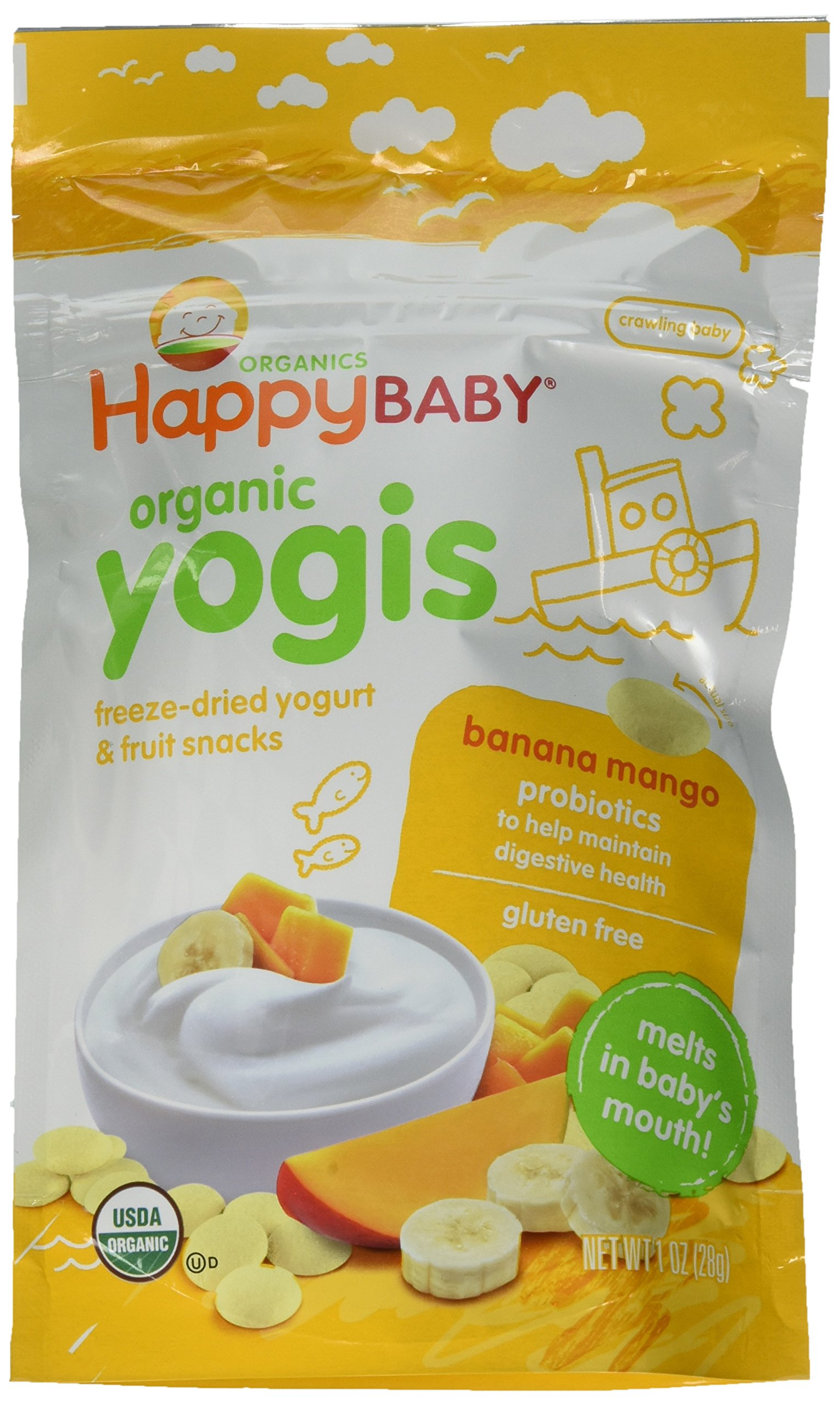 Happy Family happy yogis Yogurt Snacks - Banana Mango - 1 oz