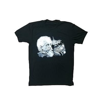 Albert Einstein Cosmos T-Shirt. Artisit Original. Men's Black T-Shirt (X-Large) | Amazon.com