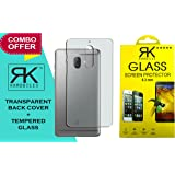 RKMobiles Combo Of Tempered Glass Screen Protector Plus Soft Transparent Cover For 10.Or G