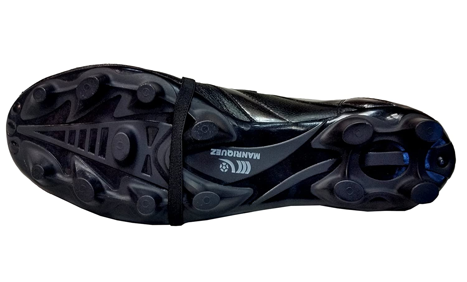 Amazon.com | Manriquez Soccer Cleats MID SX Total Black Genuine Leather | Soccer