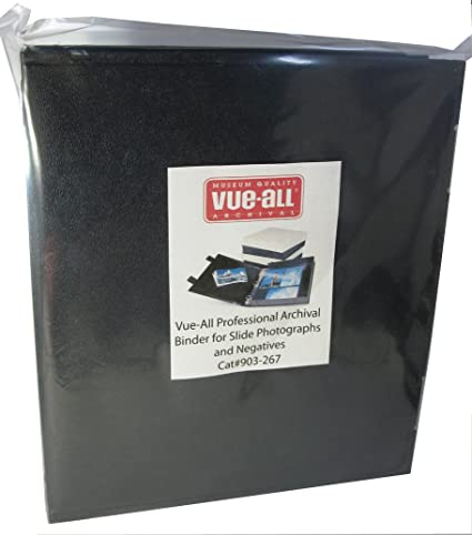 vue all professional archival binder for slide photographs and negatives