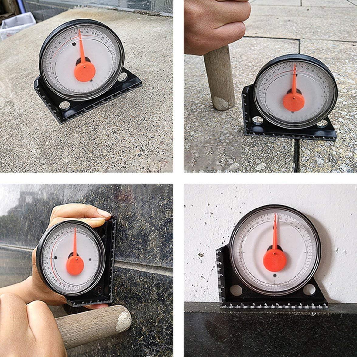 Sylvialuca Slope Measuring Instrument High Precision Tilt Level Meter Angle Finder Clinometer Gauge With Magnetic Base