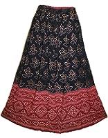 Indian Wrinkle Rock Gypsy Retro Boho Falda Women Skirt Kjol Jupe Hippy
