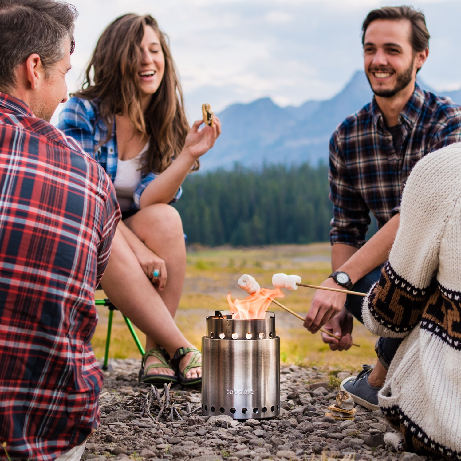 Solo Stove Campfire - 4+ Person Compact Wood Burning Camp Stove for Backpacking, Camping, Survival. Burns Twigs - NO Batteries or Liquid Fuel Gas Canister Required. by Solo Stove (Image #6)