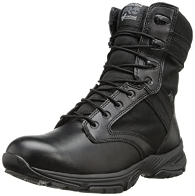 Timberland PRO Men's 8 Inch Valor Soft Toe Waterproof Side-zip Duty Boot ,Black