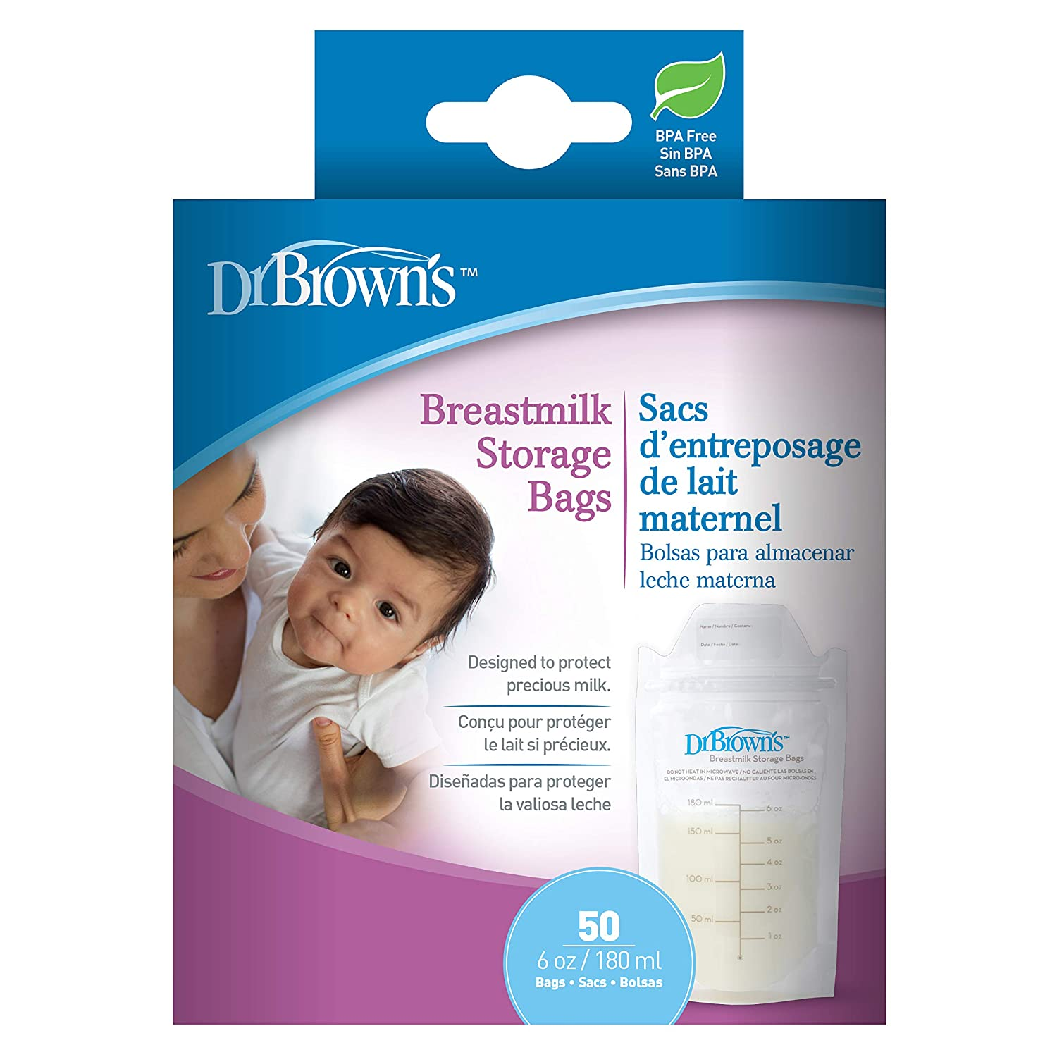 Dr. Browns 100 Piece Breastmilk Storage Bags