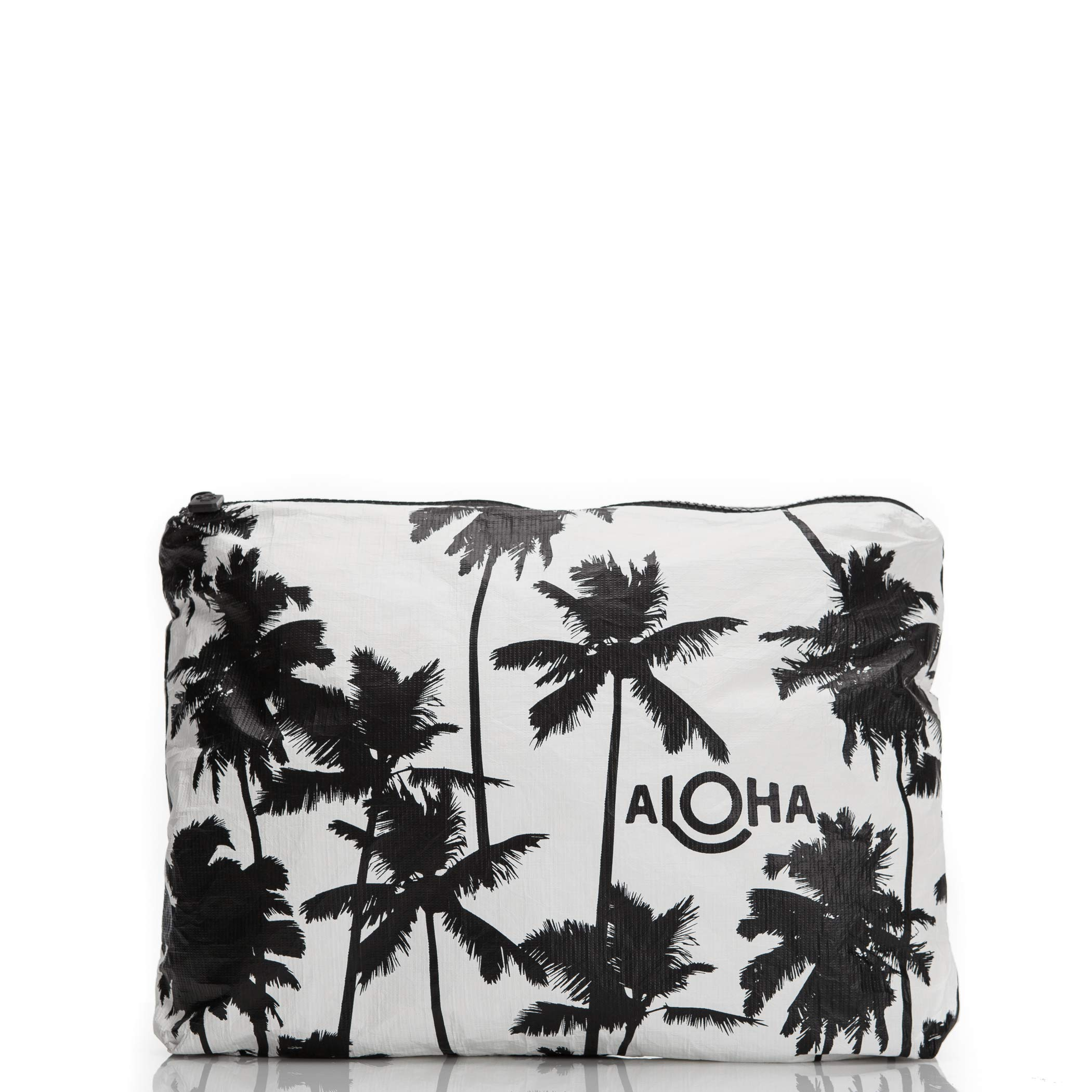 ALOHA Collection Mid Coco Palms Pouch in Black