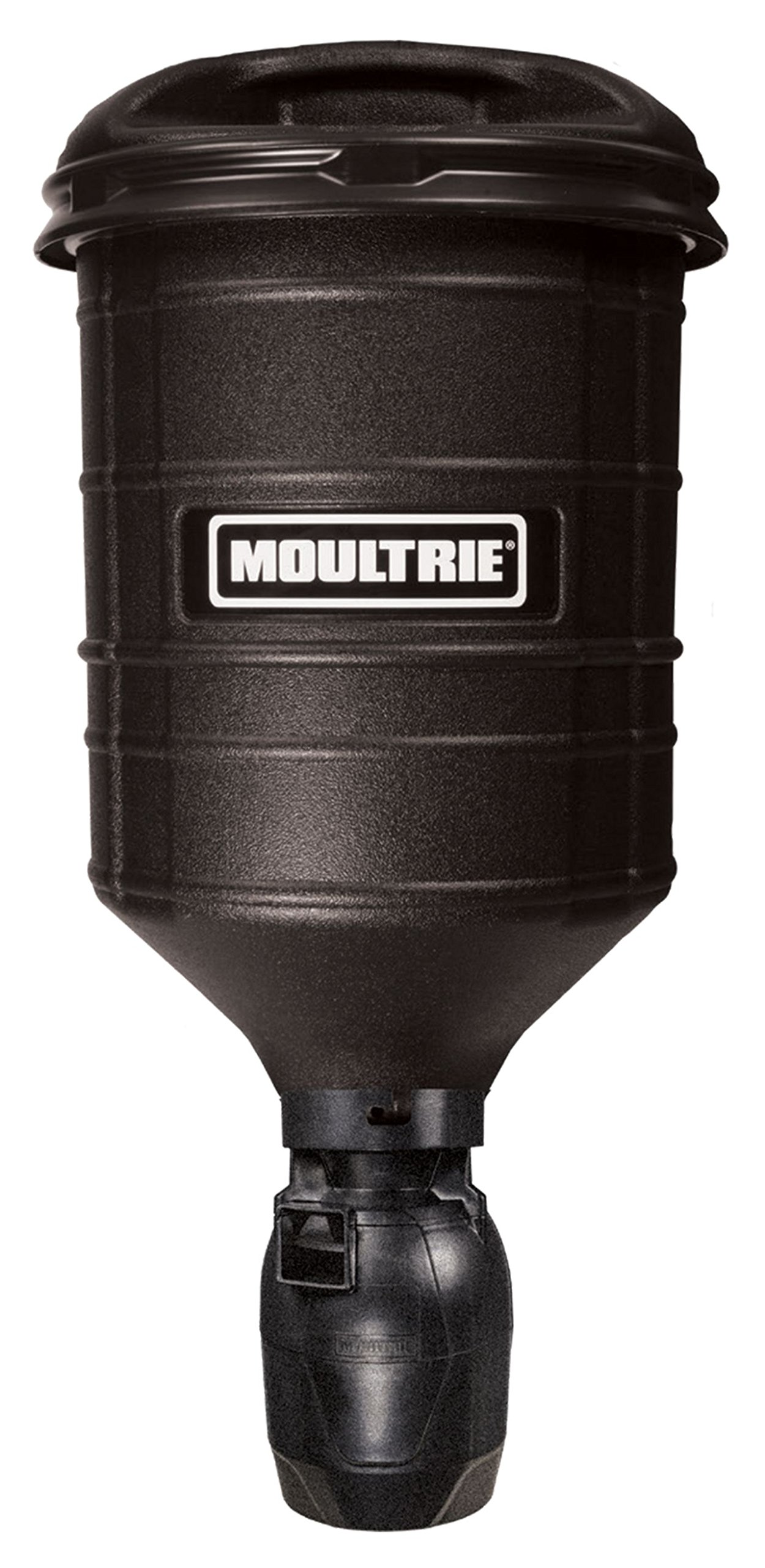 Moultrie Hanging Directional Feeder | 15-Gallon | Bracket and Ratchet Strap | 100 lb. Capacity