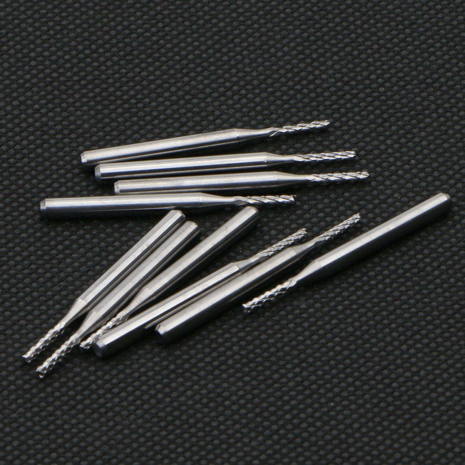 10 PCS Drills 1.5MM Carbide End Milling Cutter,CNC Router Bits End mill for PCB Machine Tool