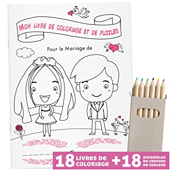 Weddng Livre De Coloriage De Mariage Pour Enfants Dina5 28 Pages