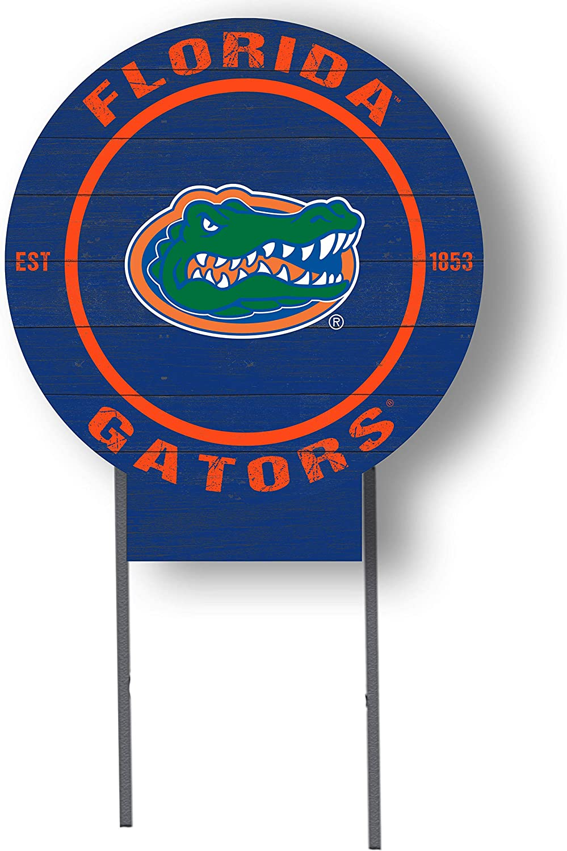 "KH Sports Fan Florida Gators 20""x20"" Circle Lawn Sign, Team Color"