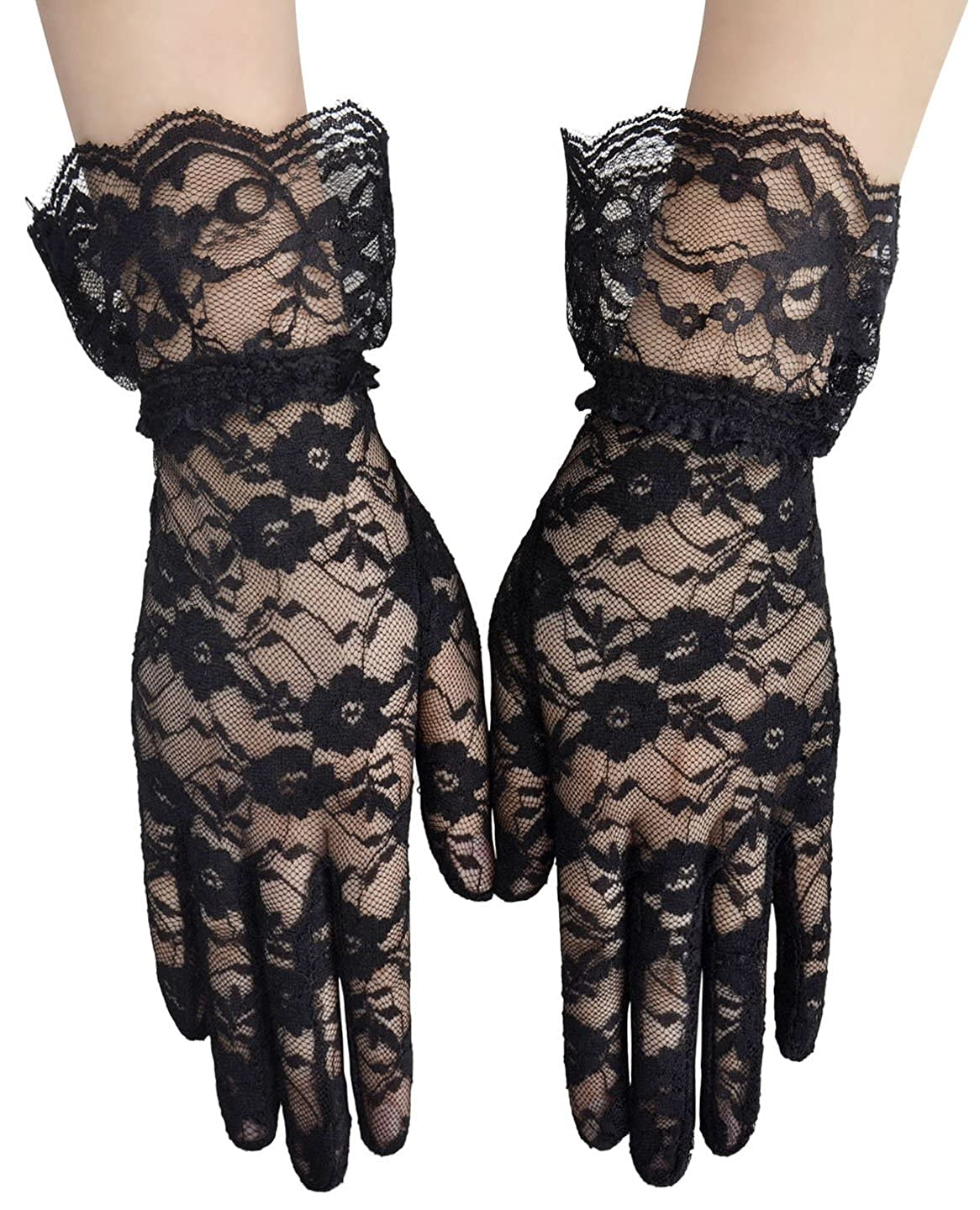 Vintage Style Gloves- Long, Wrist, Evening, Day, Leather, Lace Simplicity Womens Vintage Sheer Floral Lace Wrist Length Gloves $14.99 AT vintagedancer.com
