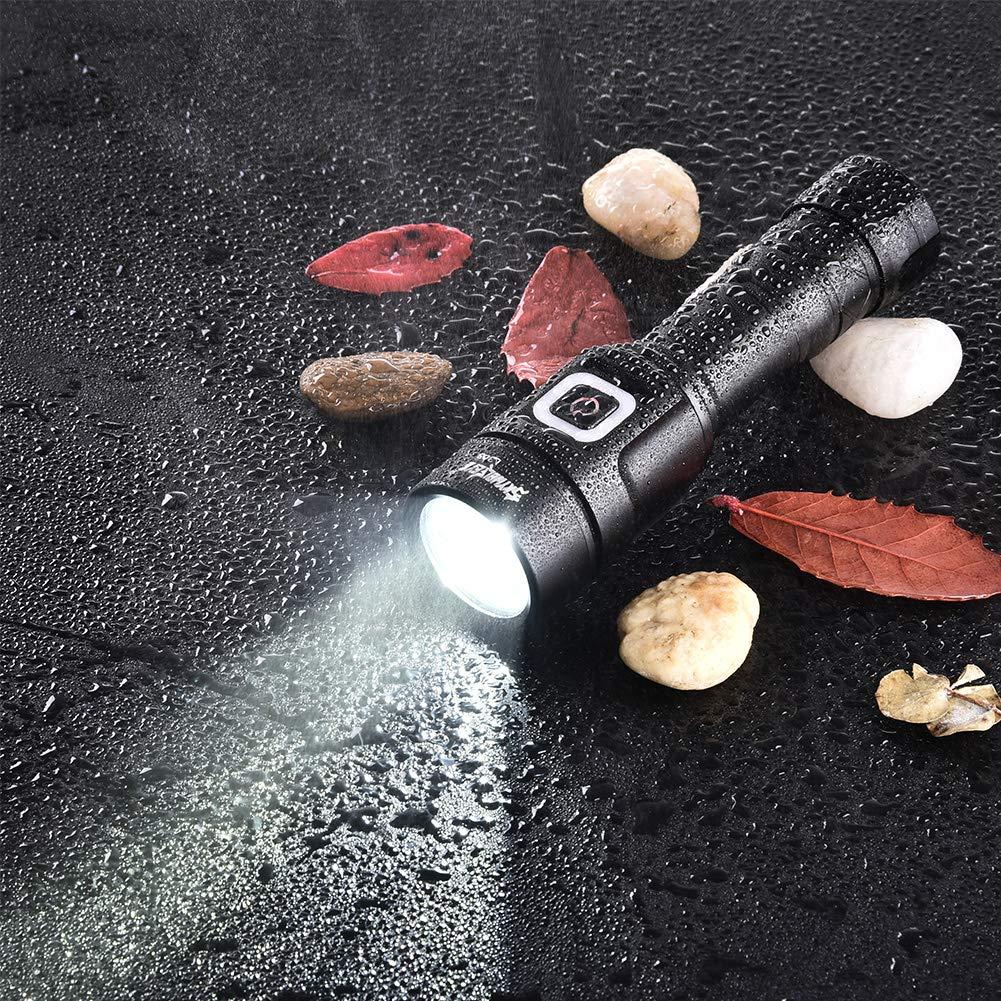 Lampe Torche LED att/énuation progressive de lintensit/é et lampe de poche rechargeable par USB pour le camping IP65 puissance /élev/ée la randonn/ée 1600 lumens le v/élo et les urgences