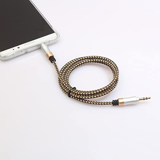 iPod Gold Plated Audio Cable Android iPad Speakers Red iPhone Northbear 1 Meter Nylon Braided 3ft 3.5mm Auxiliary Audio Cable for Headphones