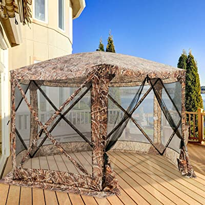 simplyUSAhello Portable Pop Up 6 Sided Canopy Instant Gazebo Screen Tent : Garden & Outdoor
