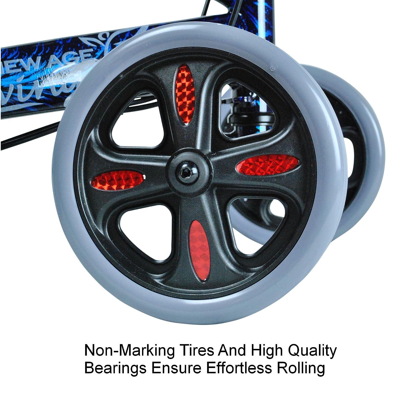 Amazon.com: New Age Living azul patinete de rodilla con ...