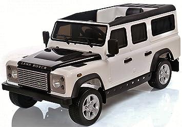 Land Rover Defender Sport de juguete con batería de 12V, eléctrico - blanco (Producto con enchufe de UK): Amazon.es: Juguetes y juegos
