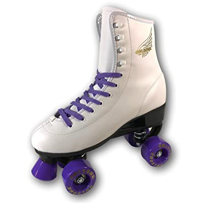 Owlsome Classic High Top Boot Style Soft Faux Leather Roller Skates for Adult & Youth : Sports & Outdoors