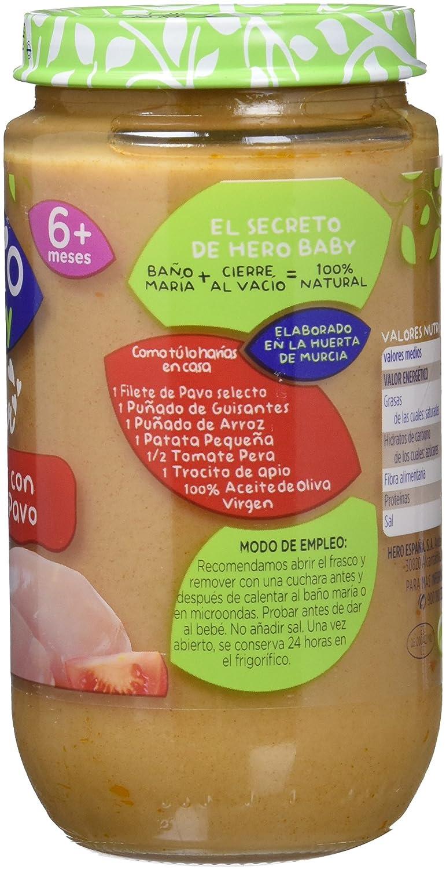 Hero Baby Verduritas de la Huerta con Delicias de Pavo, Tarrito de Cristal - 235 gr - , Pack de 6: Amazon.es: Alimentación y bebidas