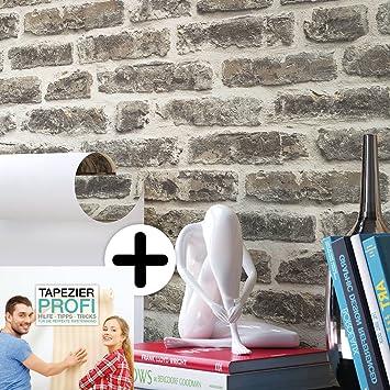 Steintapete Vliestapete Grau Anthrazit , Schöne Edle Tapete Im Steinmauer  Design , Moderne 3D Optik Für