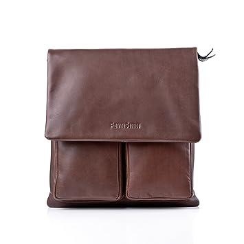 e96ad434d0349d FEYNSINN Umhängetasche echt Leder NIA Schultertasche Handtasche mit  Schultergurt Ledertasche Unisex braun