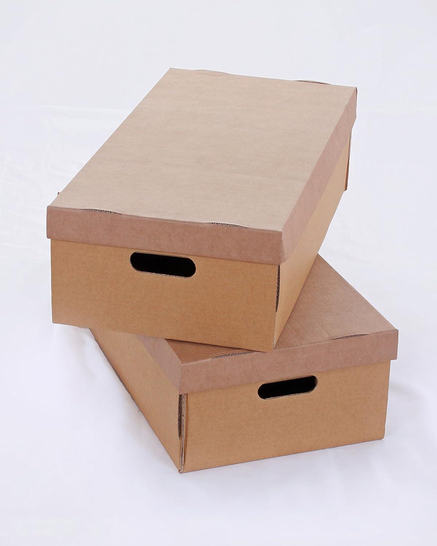 Storepak R10843/Strong Cardboard Storage box sottoletto 32/litri con coperchio confezione da 2 marrone colore