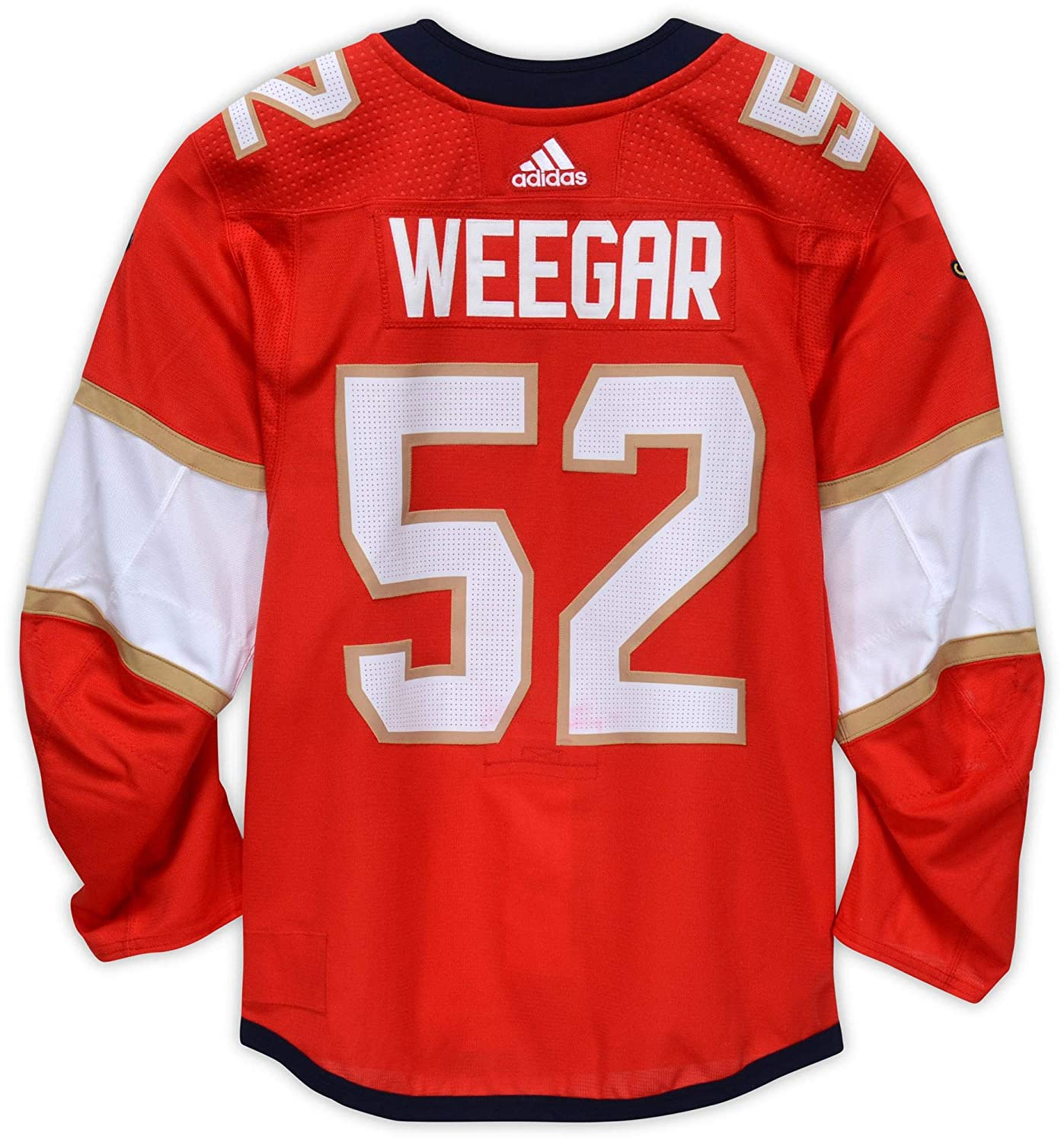 best service b74ce 03fd1 MacKenzie Weegar Florida Panthers Game-Used #52 Red Jersey ...