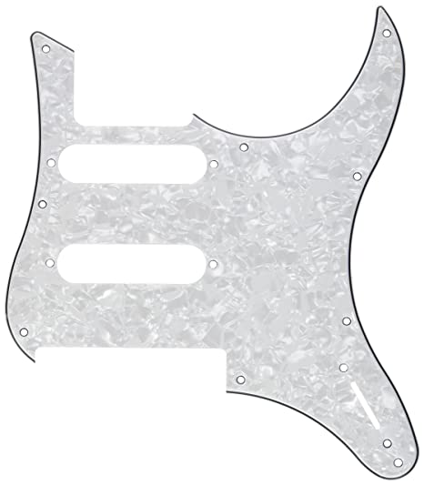Kmise mi0261 guitarra eléctrica golpeador Para Yamaha Pacifica 112 V repuesto 3 capas, color blanco