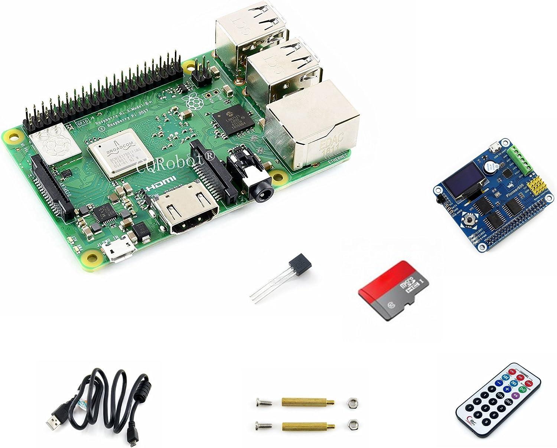 CQRobot Development Kit B of Raspberry Pi 3 Model B+, Includes: Raspberry Pi 3 Model B, Expansion Board Pioneer600, 16GB Micro SD Card, Infrared Remote Controller, Accessories.: Amazon.es: Electrónica