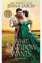 What a Widow Wants (The Widow's Club) Mass Market Paperback