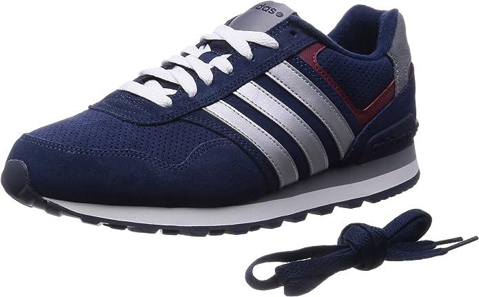 adidas Runeo 10K - Zapatillas Deportivas para Hombre, Color Azul Marino/Plata/Rojo, Talla 49 1/3: Amazon.es: Zapatos y complementos