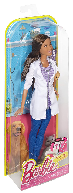 Barbie DHB19 Careers Veterinarian Doll Dark Hair Mattel