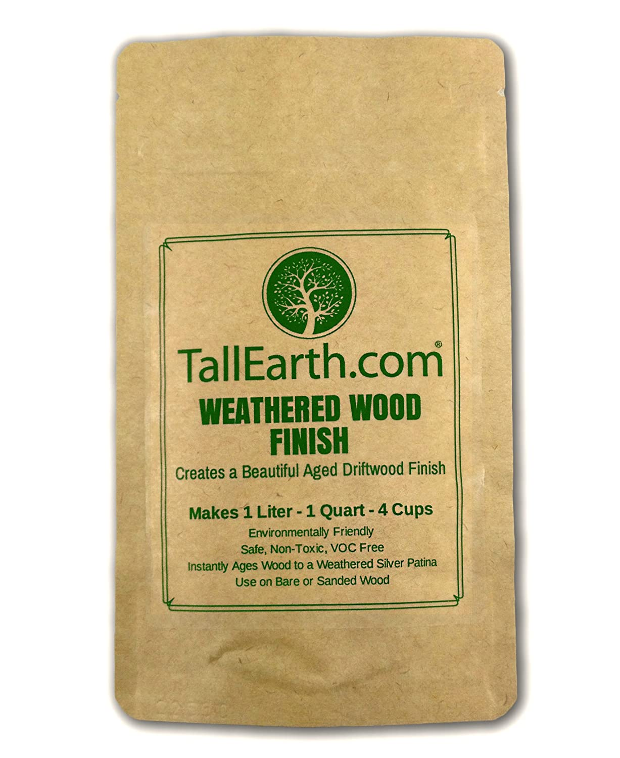 WEATHERED WOOD FINISH NON TOXIC STAIN Aged Driftwood Furniture Craft Stain by Tall Earth