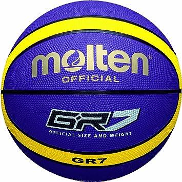 MOLTEN Basketball Balón, Unisex, Morado/Amarillo, 7: Amazon.es ...