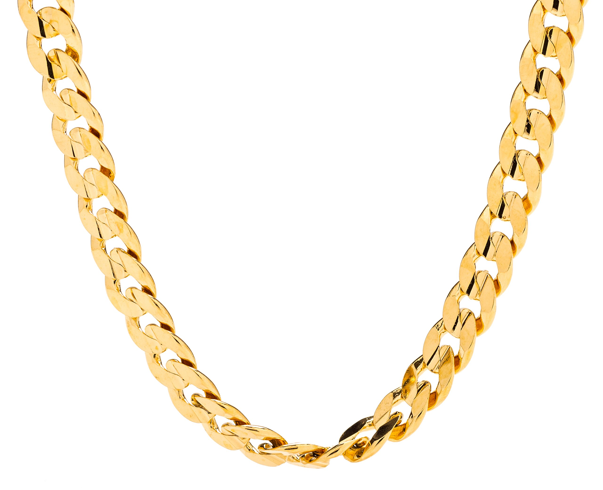 Lifetime Jewelry Cuban Link Chain, 6MM, 24K Gold Over Semi Precious Metals, Diamond Cut, Premium Fashion Jewelry Necklace, Designed to Resist Tarnishing, LIFETIME REPLACEMENT GUARANTEE, 24 Inches