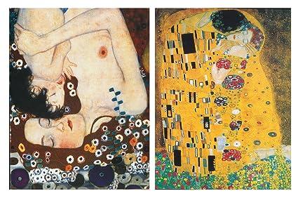 Set di 2 Quadri Klimt Il Bacio 19 x 25 cm ciascuna | Quadri Moderni ...