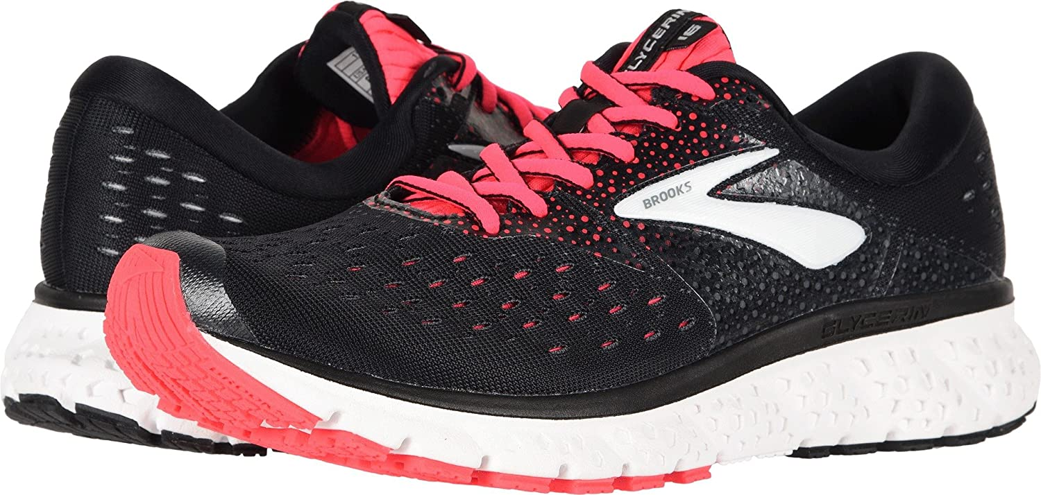 Brooks Womens Glycerin 16 – Black Pink Grey – 2A – 8.0