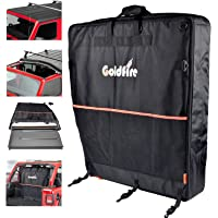 Goldfire Freedom Top Panels Storage Bag with Handle Double Storage Fits for 2007-2020 Wrangler JL 2/4 Doors (Black)