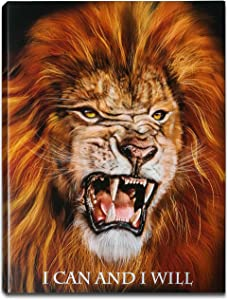 "Lion Motivational Canvas Wall Art Décor with Inspirational Positive Quote for Motivation, Inspiration and Encouragement in Home/Office, Motivational or Encouragement Gift —Ready to Hang, Inner Frame, Painting Print Artwork (13"" W x 17"" H)"