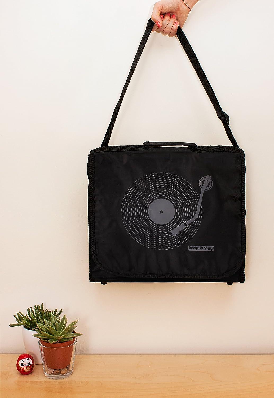/Style r/étro Record DJ LP Disques vinyles Messenger Sac /à bandouli/ère Strand Clothing Keep It Sac en Vinyle/