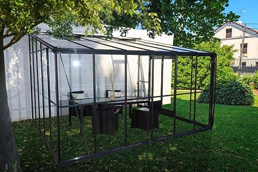 Chalet-Jardin - Invernadero de Invierno (Cristal, 12 m²), Color Gris: Amazon.es: Jardín