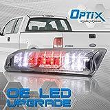 Rear LED 3rd Brake Light Cargo Lamp Assembly - 2004-2008 Ford F-150 - Clear Lens Chrome Housing - 1pc