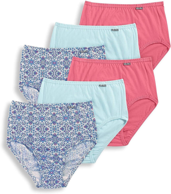 6 Pack Sea Glass//Blooming Latice//Pink Grapefruit 9 Jockey Womens Underwear Plus Size Elance Hipster