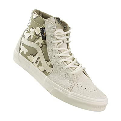 Vans Sk8-Hi (Cordura) White Asparagus Camo (12.5 Women / 11 Men M US) | Fashion Sneakers