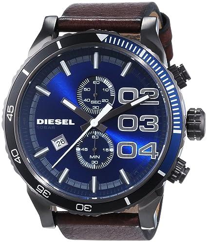 Amazon.com: dz4312 Diesel Double Down 48 Cuero Mens Reloj ...