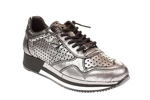 Cetti - Zapatillas para Mujer, Color Plateado, Talla 36 EU