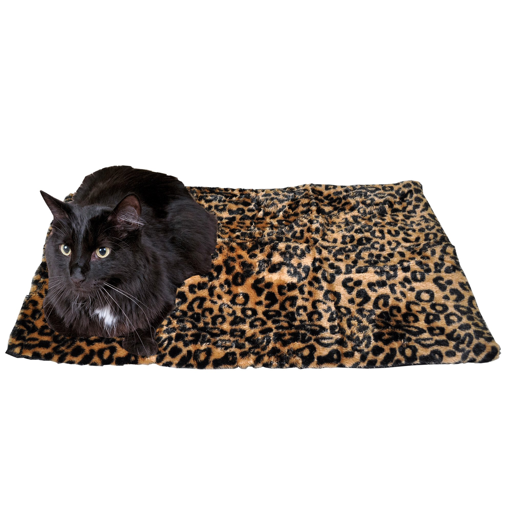 Thermal Cat Pet Dog Warming Bed Mat (Large, Beige)